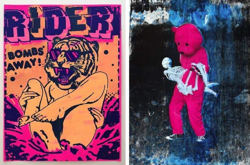 Ben Rider - Bombs Away, Luap Pink - Bear Skull