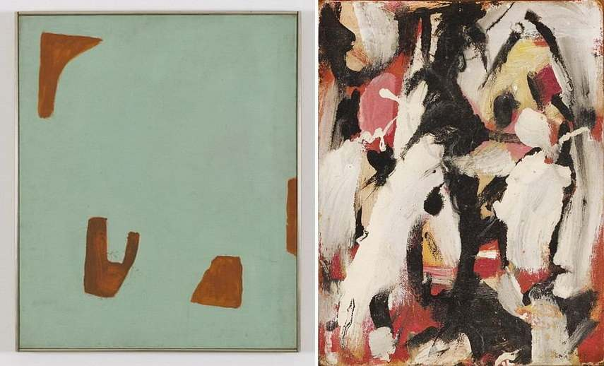 Left Betty Parsons - Early Light Right Elaine de Kooning - Untitled