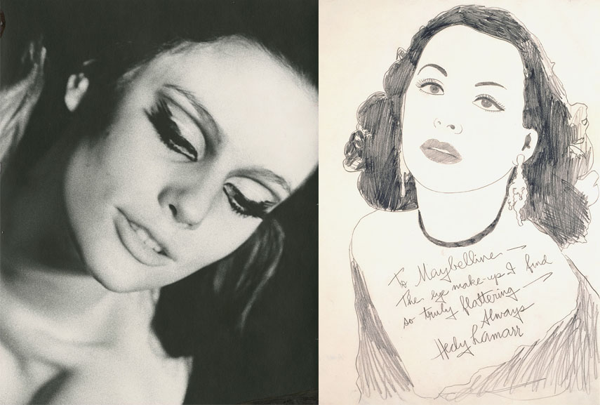 Left Billy Name, International Velvet, ca. 1967 Right Andy Warhol, Hedy Lamarr, 1962