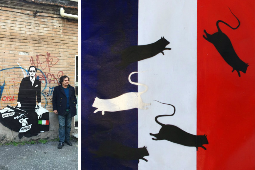 blek painted graffiti and stencils are known like banksy in prou paint blek graffiti rats are french banksy
