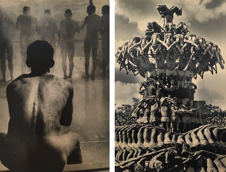 Boris Ignatovich - In Shower, 1935, Lev Borodulin - Pyramid, Moscow, 1954.