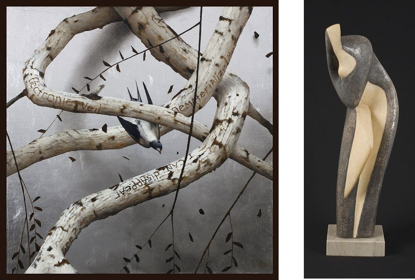 Left Brad Kunkle - Haiku Right Alexander Archipenko - Leaning Figure, 1935