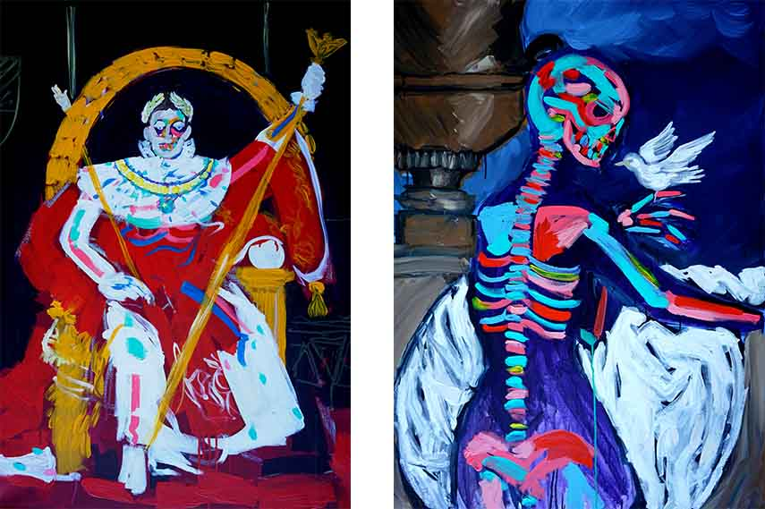 Fashion Allows People To Become Art Bradley Theodore In His First Uk Solo Exhibition At Maddox Gallery Widewalls