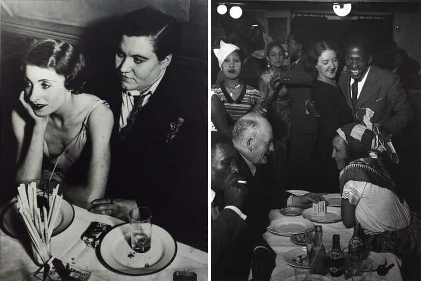 Brassaï - A couple at Le Monocle, c. 1932, At the Cabane Cubaine in Montmartre, c. 1932