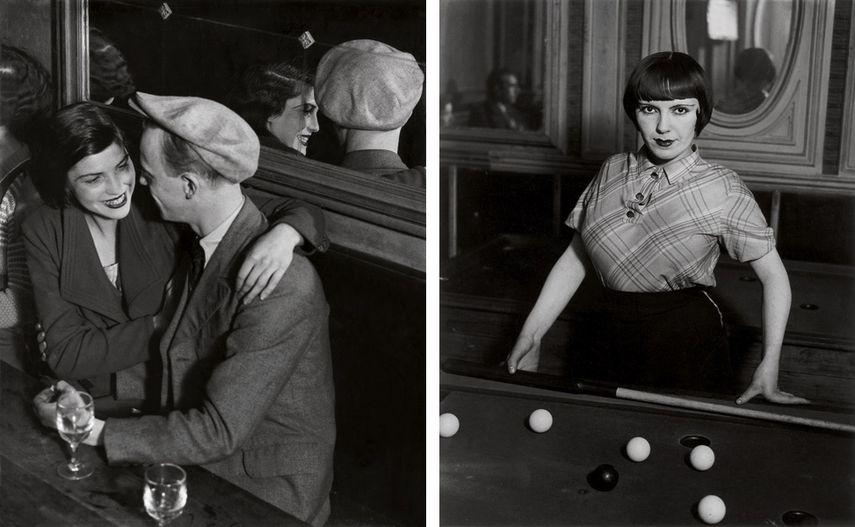 Bal des Quatre-Saisons, rue de Lappe, ca. 1932, Billiard Player, Boulevard de Rochechouart, Paris, 1932-33
