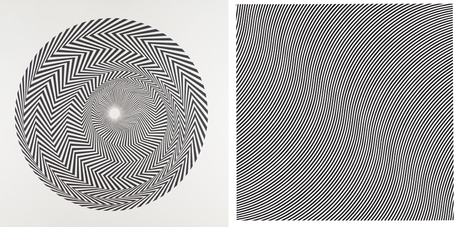 Left Bridget Riley Blaze 1 Right Bridget Riley Over