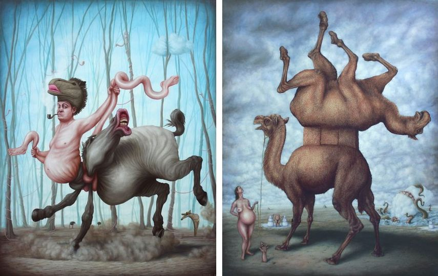 forward to facebook the artist surreal work
