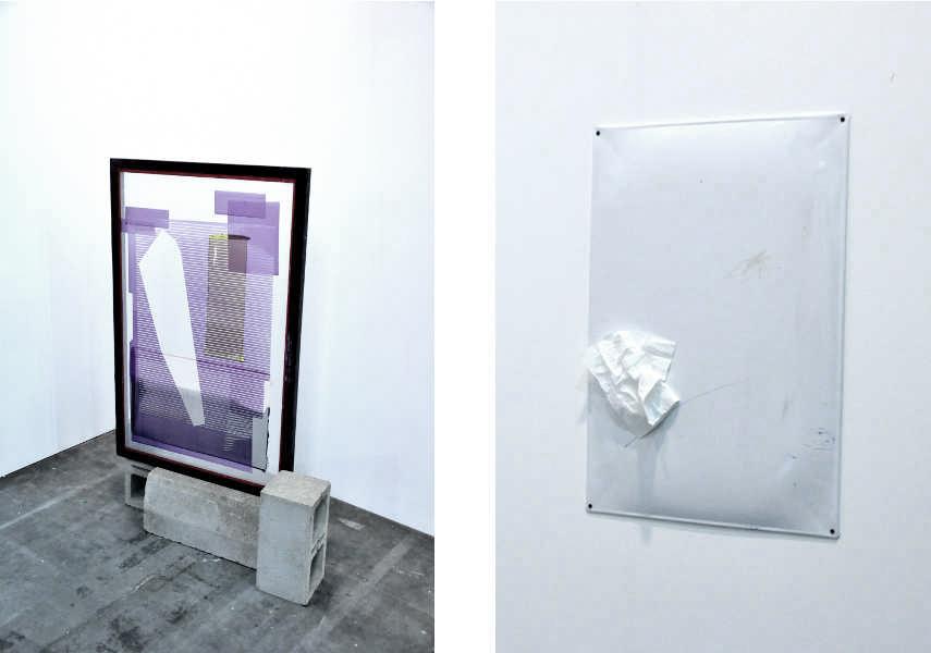 Left Carla Scott Fullerton's work at Chert Gallery Booth at Artissima Right Kasia Fudakowski at Chert Gallery Booth at Artissima