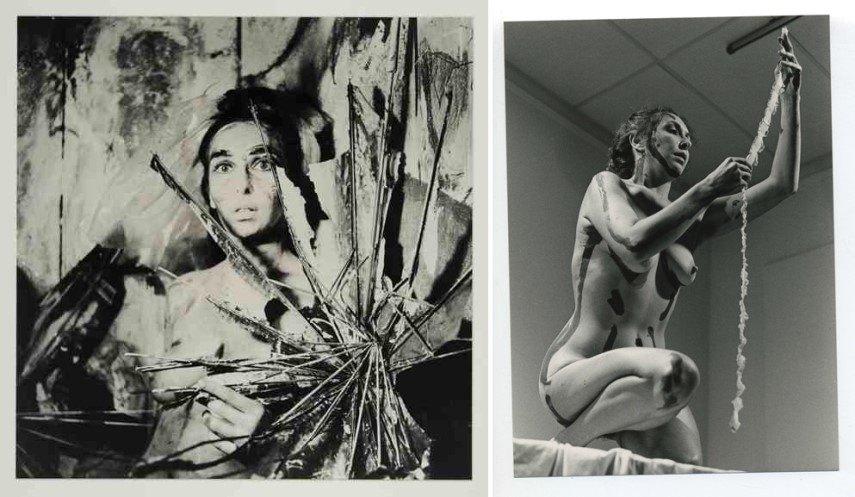 Left Carolee Schneemann - From the series Eye Body Right Carolee Schneemann - Interior Scroll