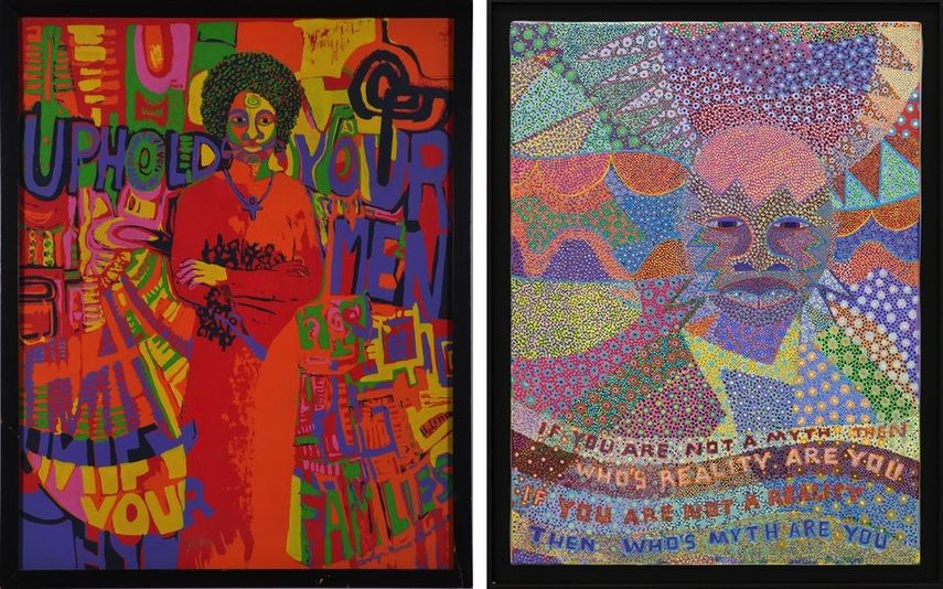 Carolyn Lawrance - Uphold Your Men, Unify Your Families, Gerald Williams - Portrait_Y, 1990