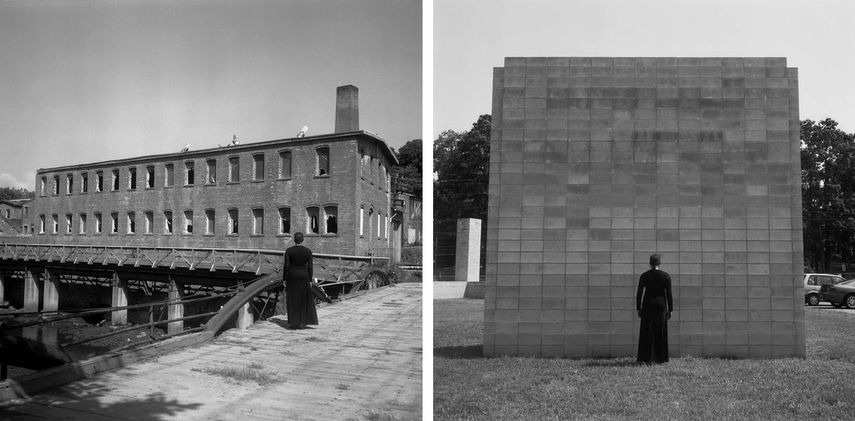 Carrie Mae Weems - Factory from Beacon, 2003-05, Lewitt's Wall from Beacon, 2003-05