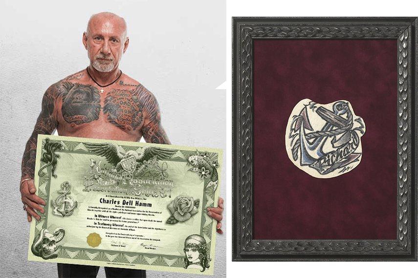 preservation member Left: Charles Hamm, founder of NAPSA / Right: Preserved tattoo home