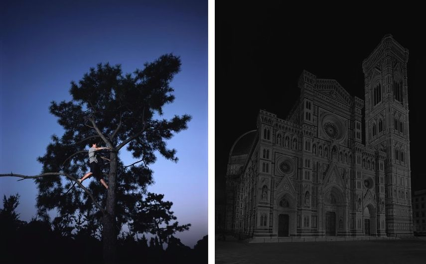 Chen Xiaoyun - What We Call as Real Is Actually Amateurish, 2013, Hiroshi Sugimoto - Duomo, Florence, from Gates of Paradise series, 2017