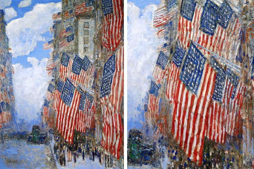 american impressionism and the street decoration in flag day fourth colors like to make paper stars