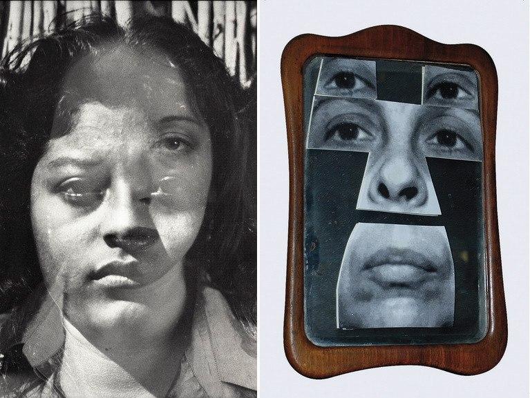 Left Christina Fernandez - Untitled Multiple Exposure #7 (Bravo), 1999 Right Geta Brătescu, Autoportret în oglindă Portrait