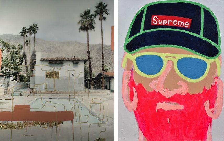 Christine Flynn - Palm Springs Pool, Helen Cenedese - Beard Man #3 at SCOPE
