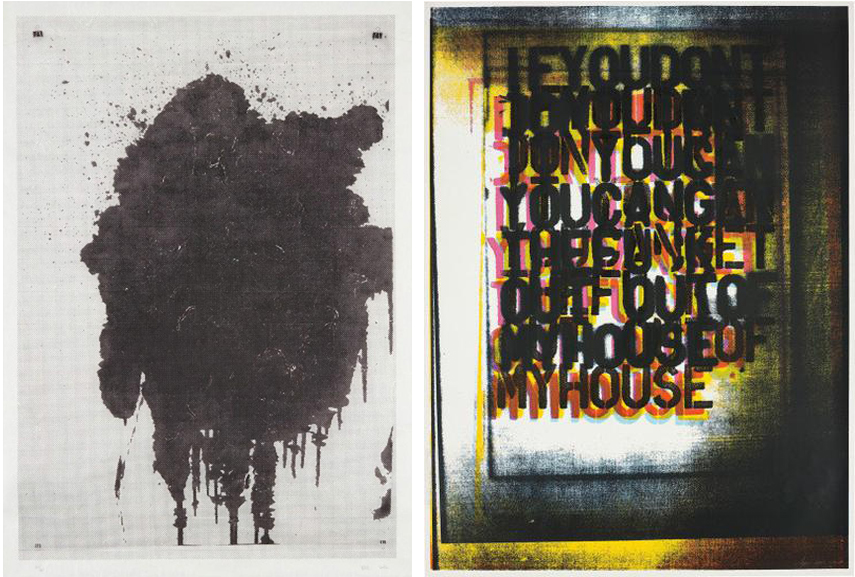 Left Christopher Wool - Untitled and My House I