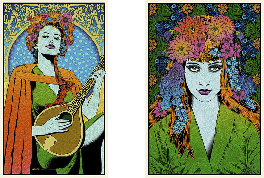 chuck sperry created many limited edition poster prints such as the ones for widespread panic oakland band and poster for ben harper