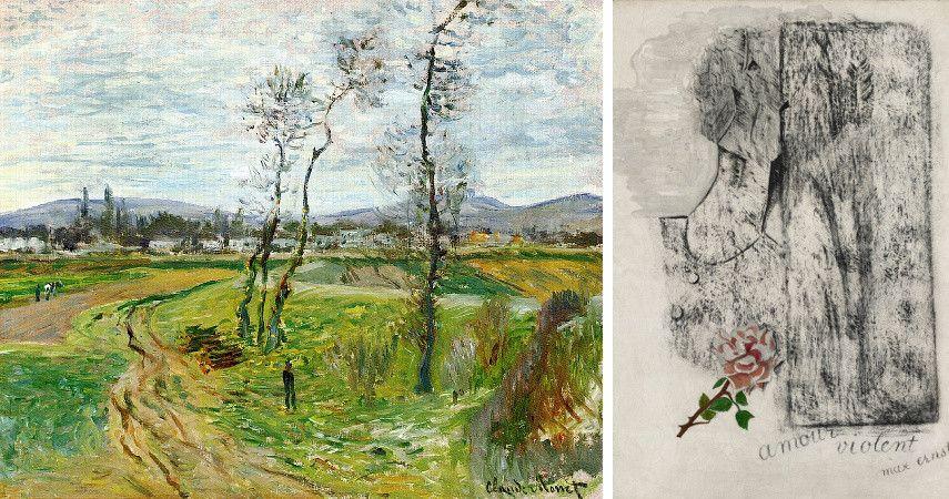 Claude Monet - La Plaine de Gennevilliers / Max Ernst - Amour Violent