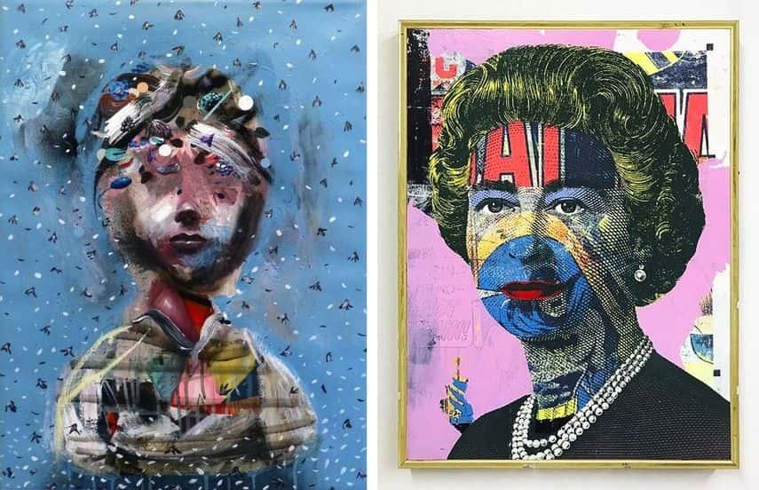 Collin van der Sluijs - Dense, 2017, Greg Gossel - Queen Pink, 2017