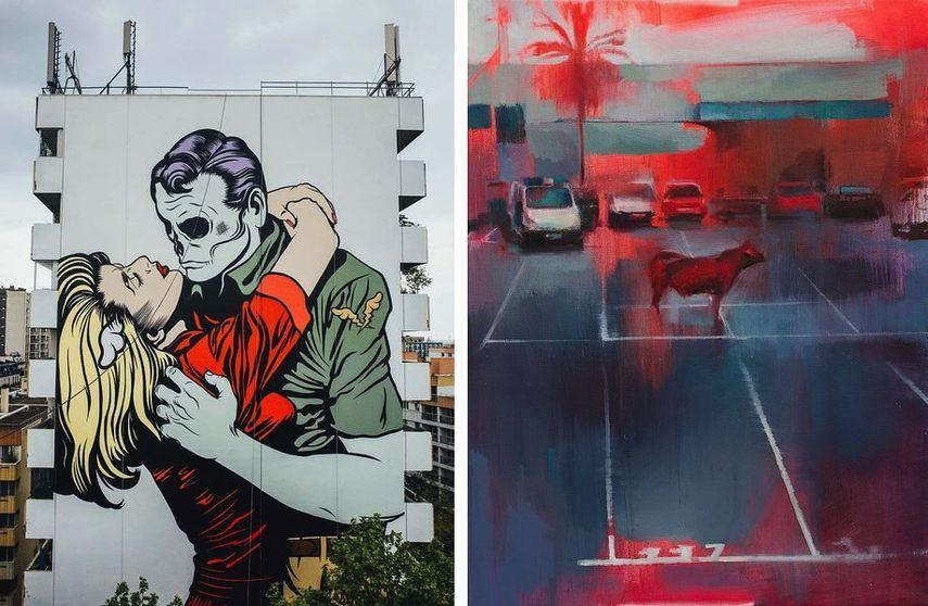 DFACE, Mural Artist for Moniker, Manolo MESA - A coté de la ville, 2017