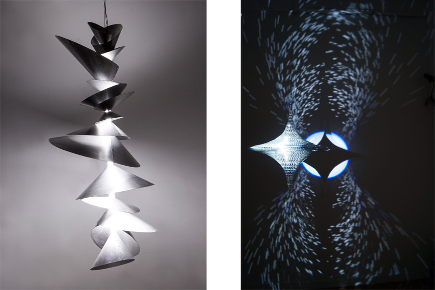 Left- Dave Rittinger - Spindel; Right-Kiichiro Adachi s artwork - Image copyright Triangle NY