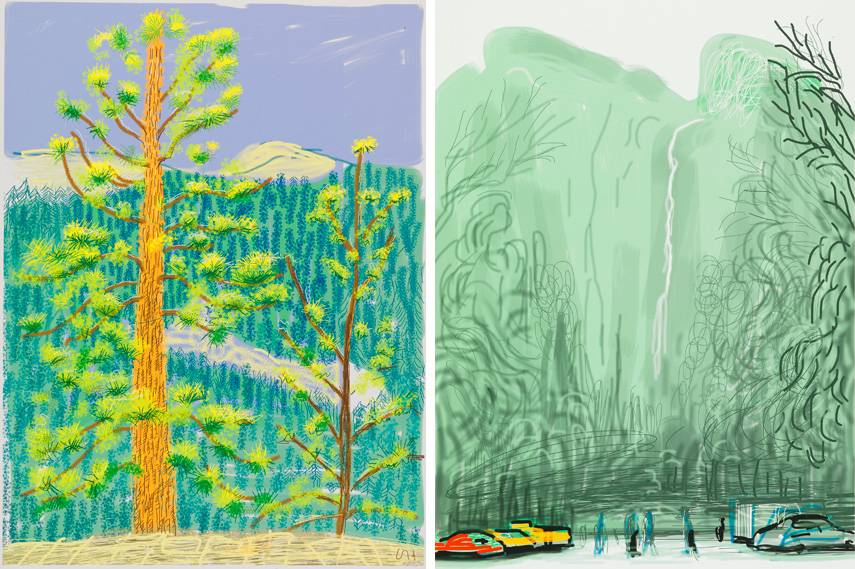 Left David Hockney 2013 2010 2014, edition year, bigger, news 2010
