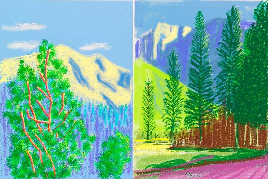 Left David Hockney -  Untitled No.9, 2010 Right David Hockney -  Untitled No.12, 2010