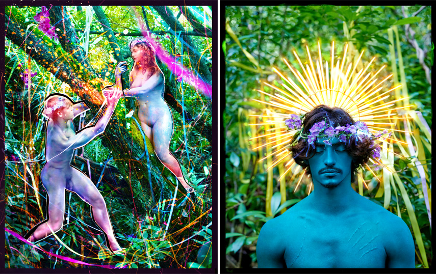 Left David LaChapelle - Lost and Found, 2015 Right avid LaChapelle - Behold, 2015