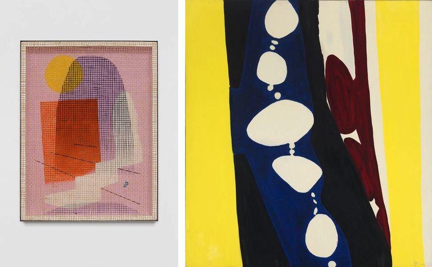 David Renggli - Desire painting (Miliand), 2018, Ernst Wilhelm Nay - Purpur und weiße Rhythmen |, 1966