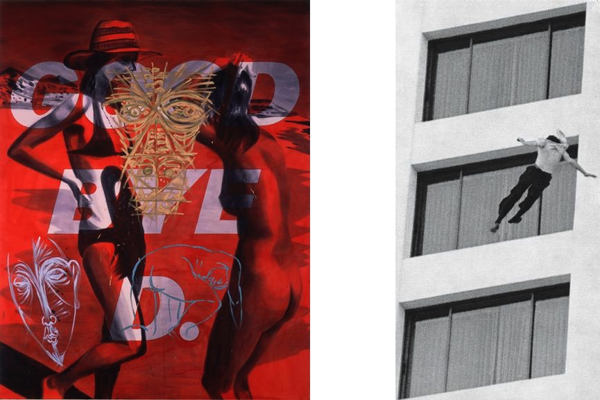 David Salle - Good Bye D., Sarah Charlesworth - Unidentified Man, Ontani Hotel, Los Angeles, 1980:20121982,