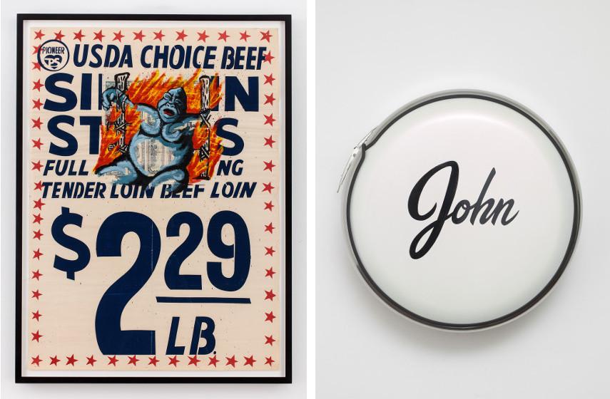 David Wojnarowicz - USDA Choice Beef, 1985 / John Dogg - John, Not Johnny, 1987
