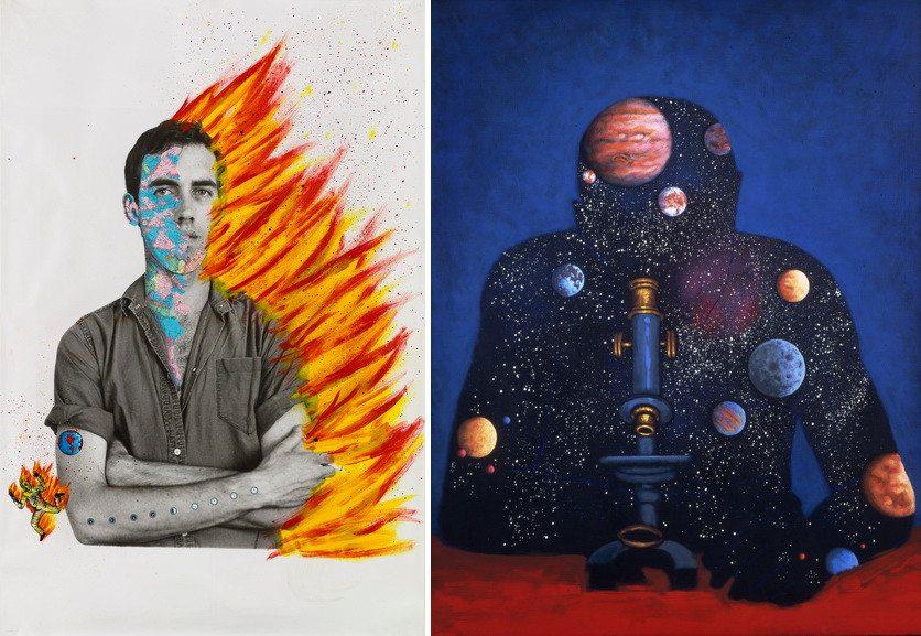 Left David with Tom Warren - Self-Portrait of David Wojnarowicz Right Something from sleep