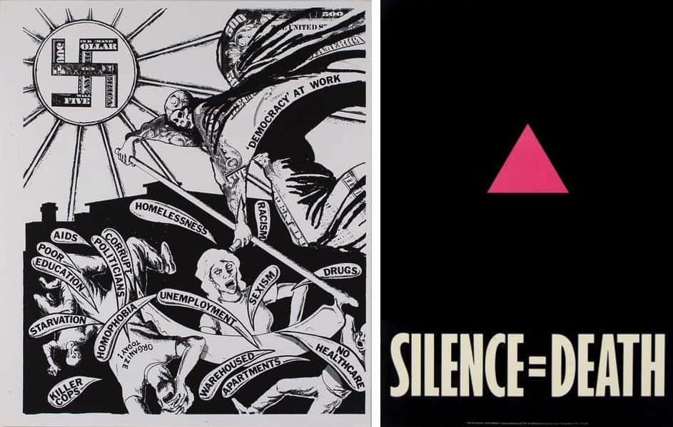 David Wojnrawicz - Democracy, Gran Fury - Silence Equals Death