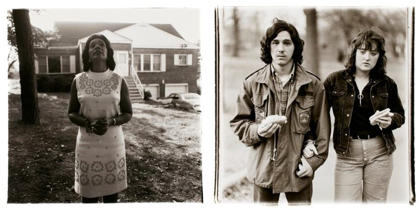Left Diane Arbus - Mrs Martin Luther King Jr Right Diane Arbus - A young man and his girlfriend