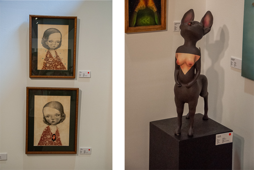 Left Dilka Bear Right Mono Cieza Fousion Gallery Urvanity Art 2020
