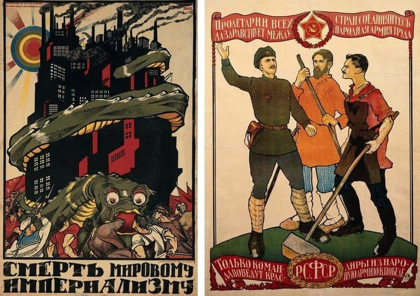 Dmitri Moor - Death to World Imperalism, Dmitrii Moor - Proletarians of all Lands, Unite, 1918