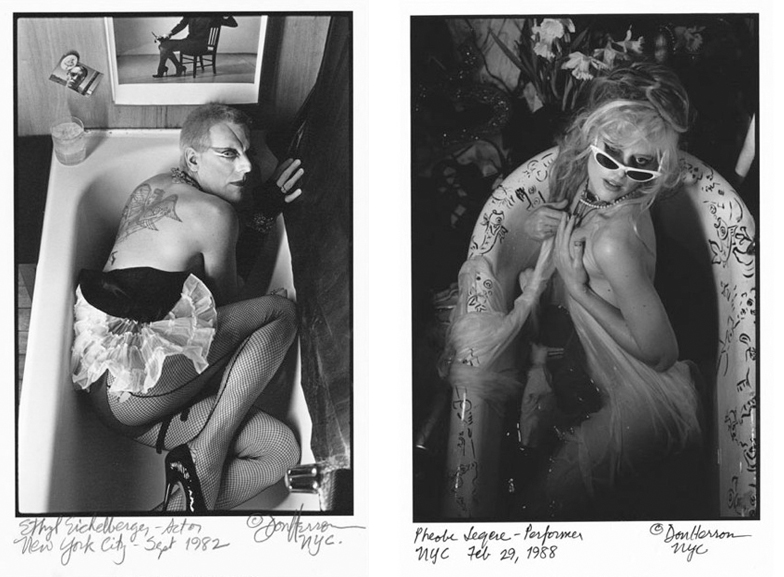 Left Don Herron - Ethyl Eichelberger, 1982 Right Don Herron - Phoebe Leger, 1988