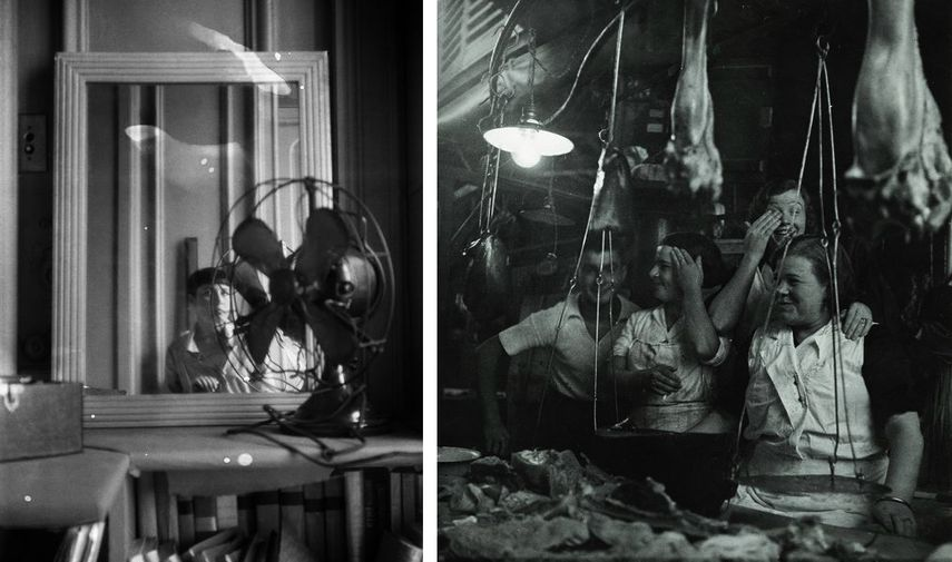 Autoportrait au ventilateur, début années 1930, Barcelone, 1933
