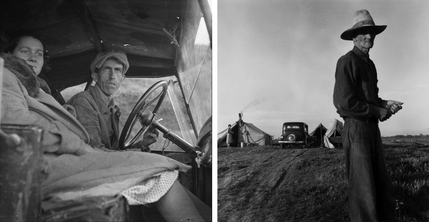 Ditched, Stalled, and Stranded, San Joaquin Valley, California, 1936, Drought Refugees, c. 1935