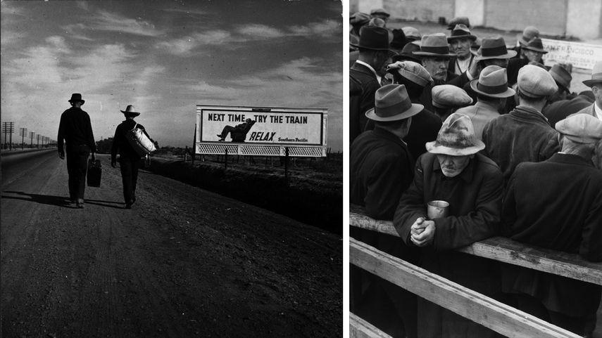 Toward Los Angeles, California, 1937, White Angel Breadline, San Francisco, 1933