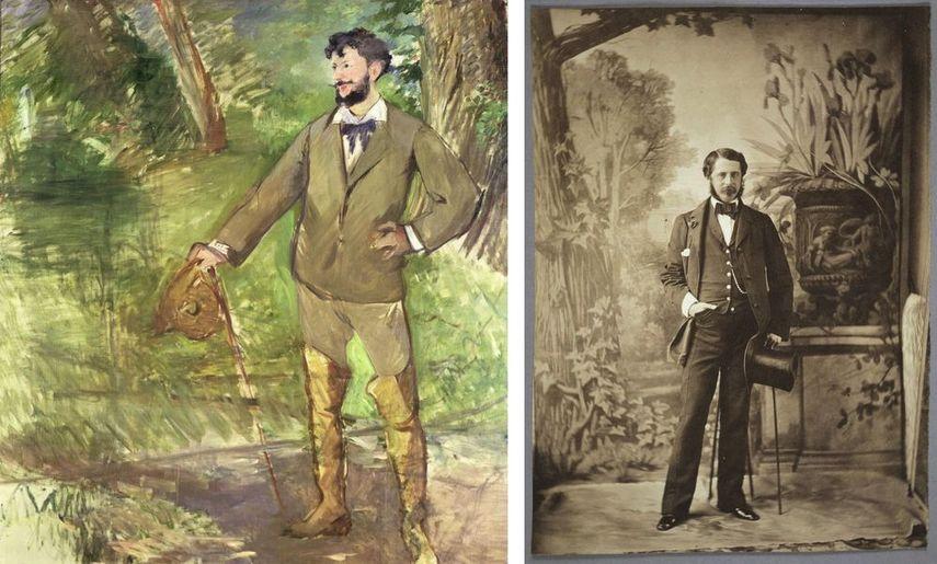 Impressionist Édouard Manet - Portrait of Carolus-Duran, 1876, Olympe Aguado - Portrait of a Dandy, c. 1854