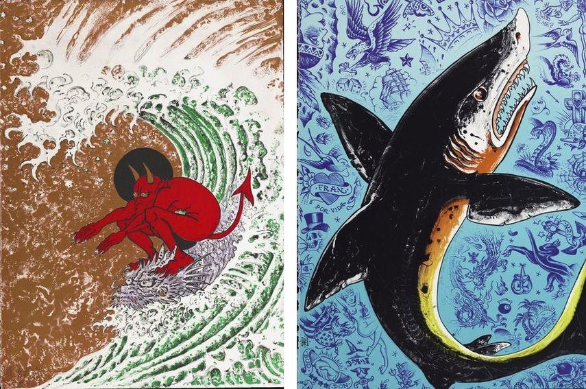 Surf or Die, 2004, Tattoo Seas Shark, 1995
