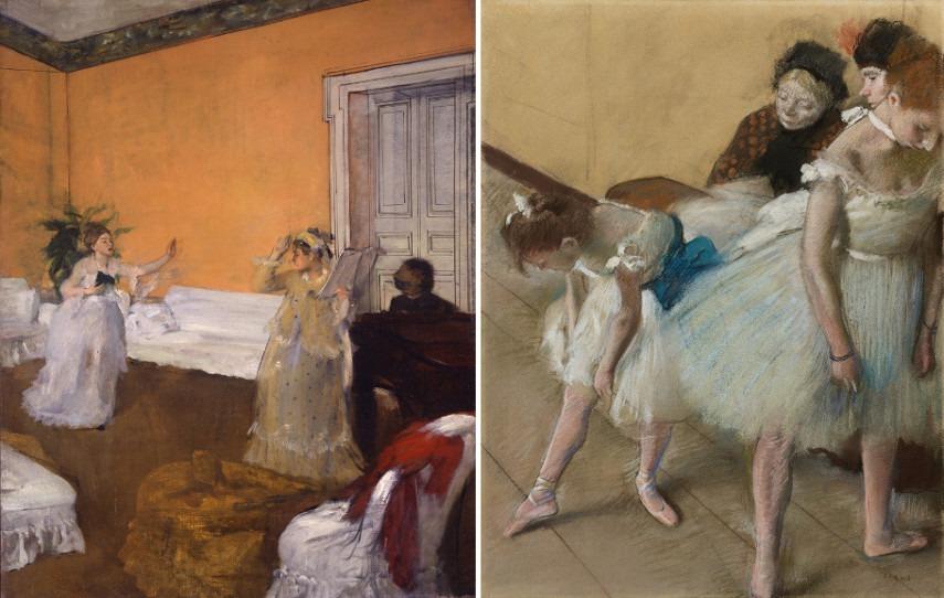 Left Edgar Degas - The Song Rehearsal Right Edgar Degas - Dance Examination