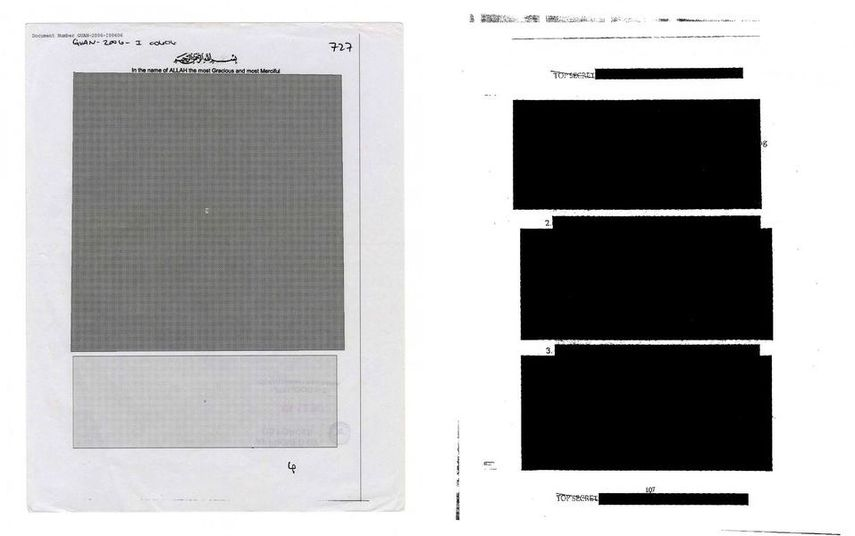 A redacted copy of a letter sent to UK resident Omar Deghayes, Page from CIA Inspector General