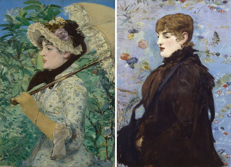 Left Edouard Manet - Jeanne Right Edouard Manet - Autumn Mary Laurent
