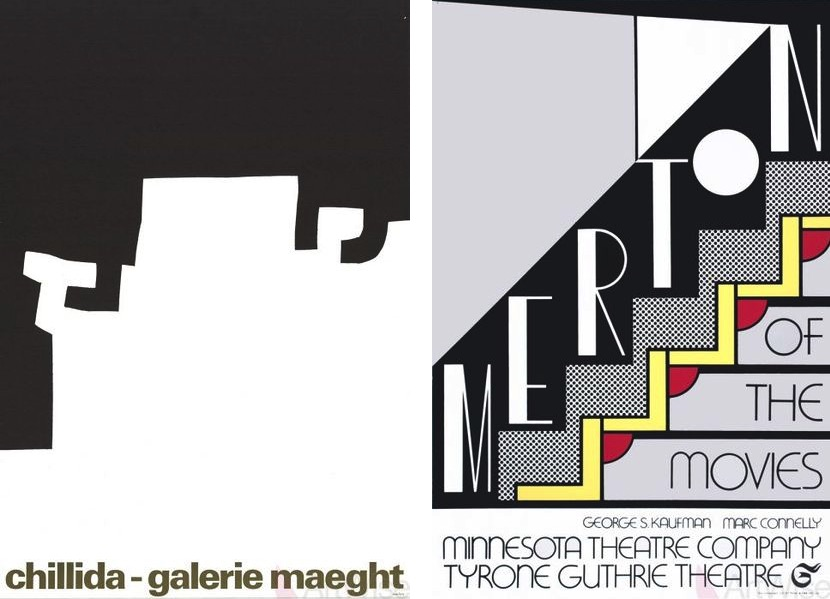 Eduardo Chillida - Untitled, 1973, Roy Lichtenstein - Merton of The Movies, 1968