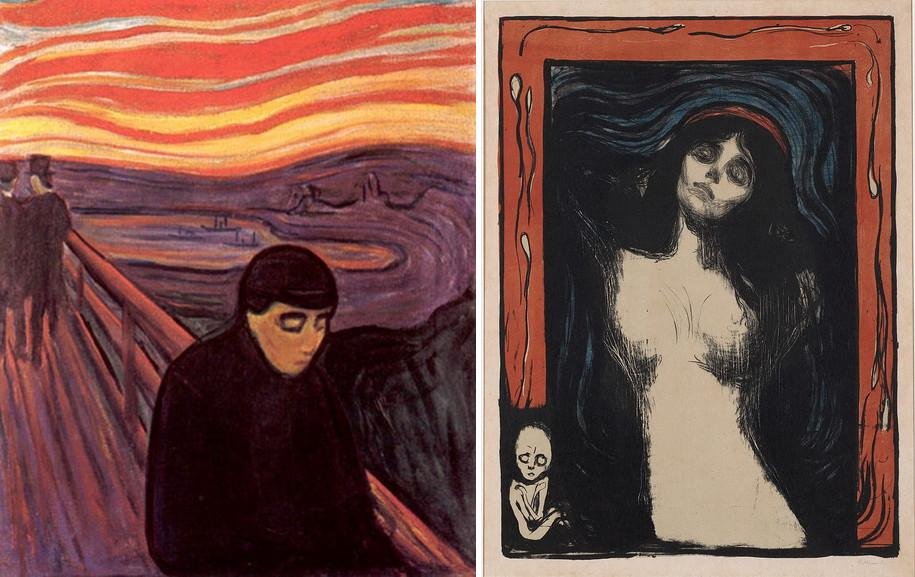 Left Edvard Munch - Despair Right Edvard Munch - Madonna