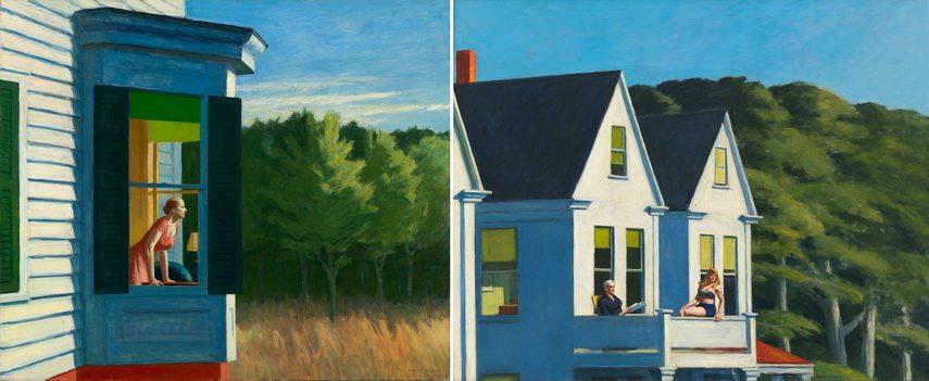 Left Edward Hopper -Cape Cod Morning Right Edward Hopper - Second Story