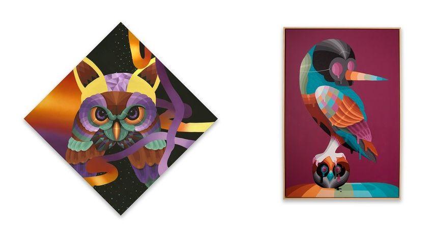 Left: Eelco van den Berg - Feather galaxy / Right: Eelco van den Berg - Switch
